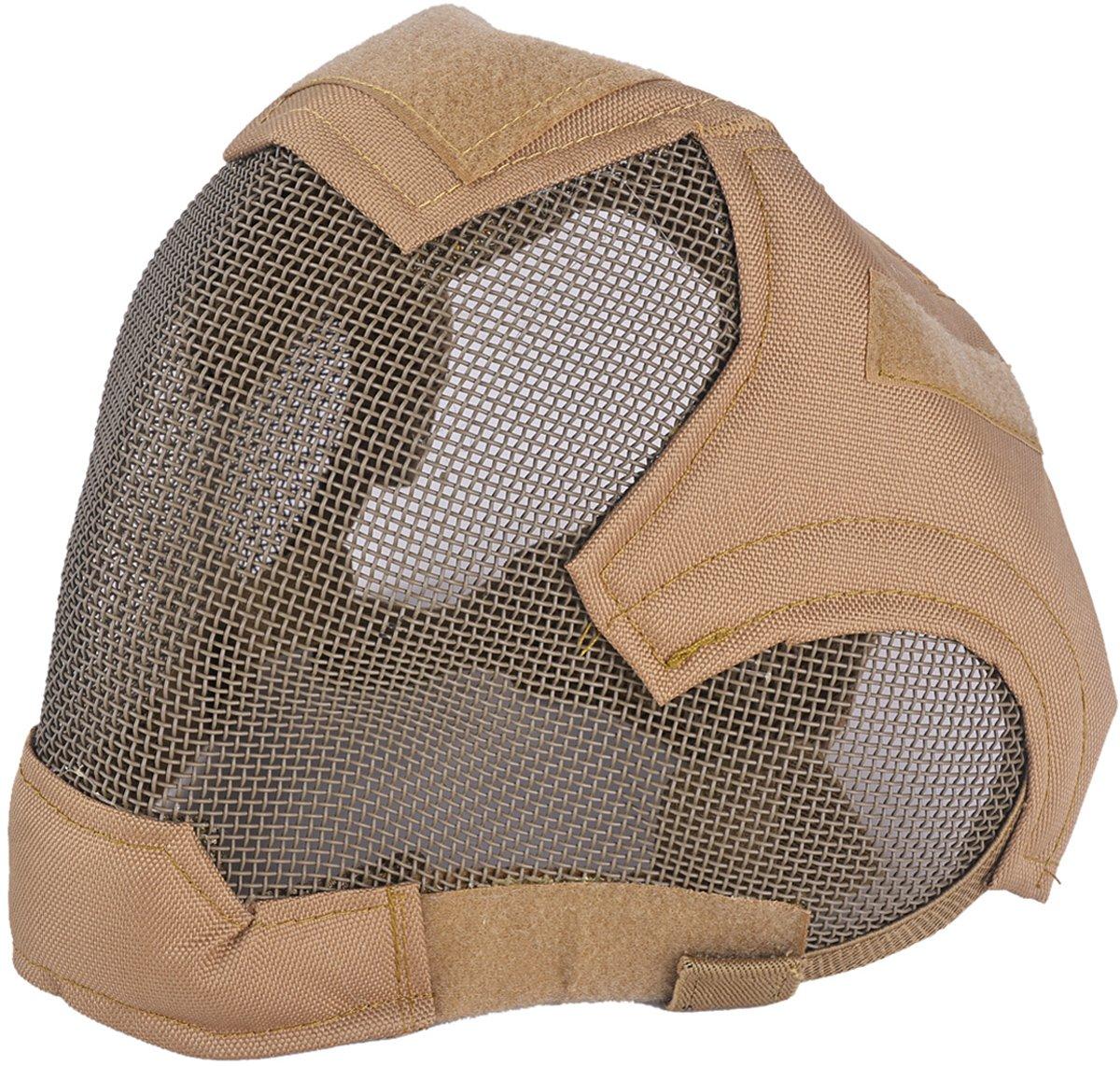 Fansport Engrener Masque Complet Masque de Protection Masque Airsoft En Acier pour Jeu Extérieur