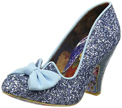 014b52578de7 Irregular Choice Womens Nick of Time Pale Blue High Heel Court Shoes Size  3.5