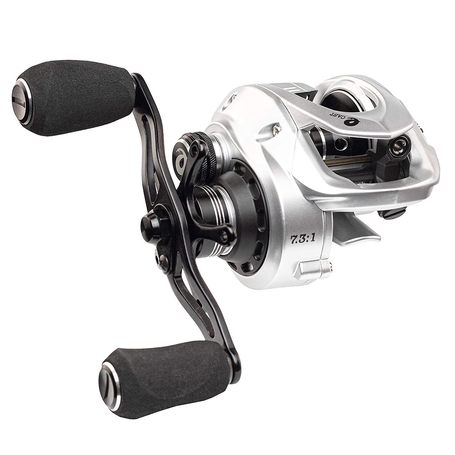 Enigma Fishing Baitcasting Reel High Speed, Low Profile, with Carbon Fiber Drag Adjustable Magnetic Brakes Your Choice of Gear Ratio E-CAST EC-100
