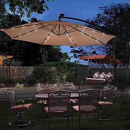 Lighted Umbrella For Patio Impressive Amazon TANGKULA 60FT Outdoor Patio Umbrella Solar LED Lighted