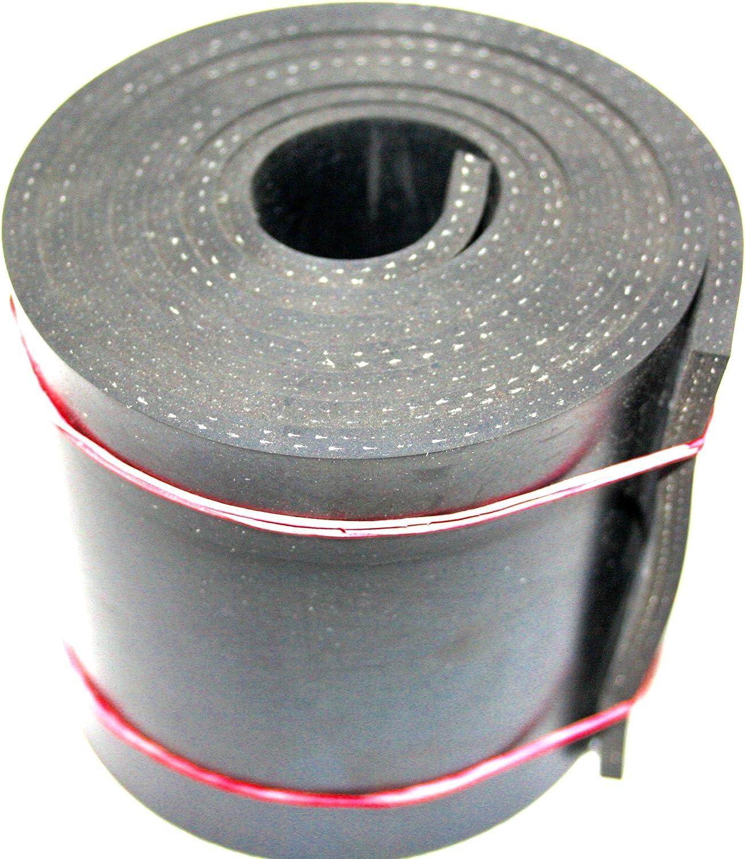 Vollgummi Gummimatte Gummistreifen mit Gewebe 1000x100x5mm Hartgummi Gummiauflage Sch/ürfleiste Gummiplatte