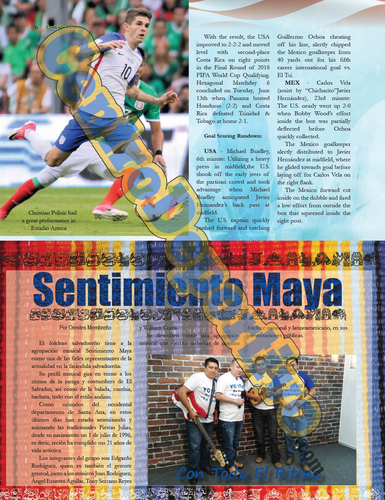 CentroDeportivo Magazine, Summer 2017: CentroDeportivo, Jorge O. Martinez, Tomas Romero, Pedro Sorto, Frank Chavez, Jorge O. Martinez Roberto Burgos, ...