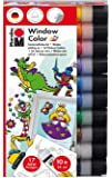 "MARABU Kit Window Color ""Fun & Fancy"" 10 x 25 ml à base d'eau"