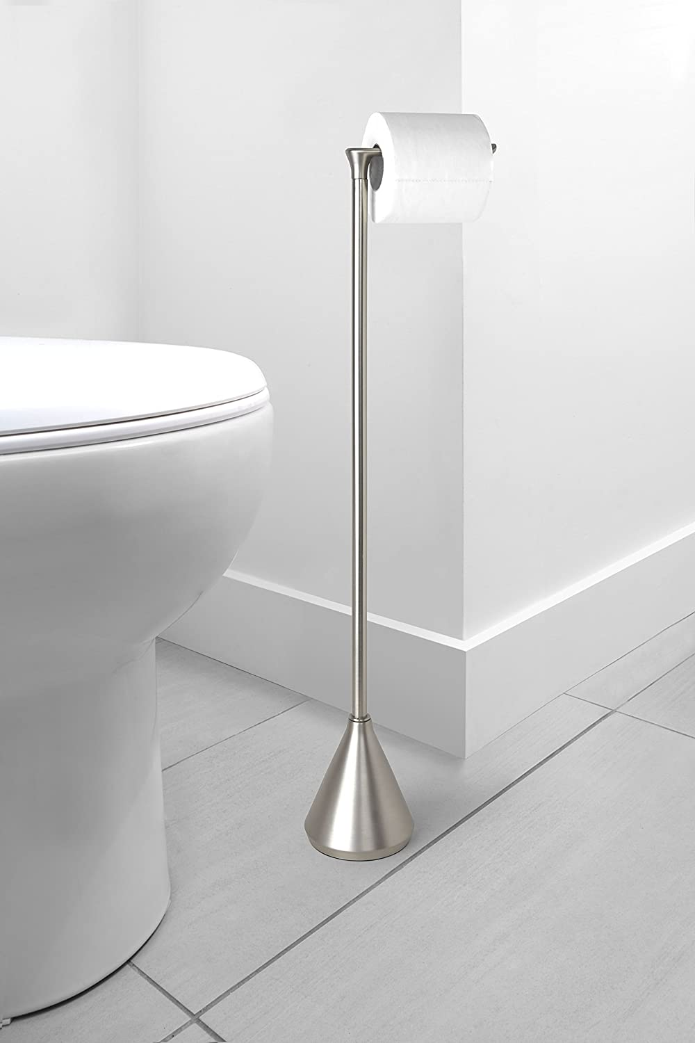 Tp Dispenser Brushed Nickel Umbra Pinnacle Toilet Paper Holder and Stand