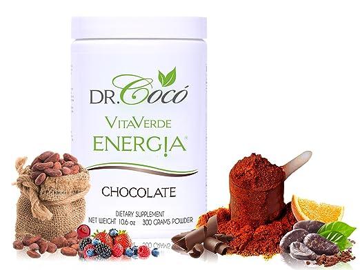 Dra. Cocó Energia vita-verde, Chocolate, 1: Amazon.com ...