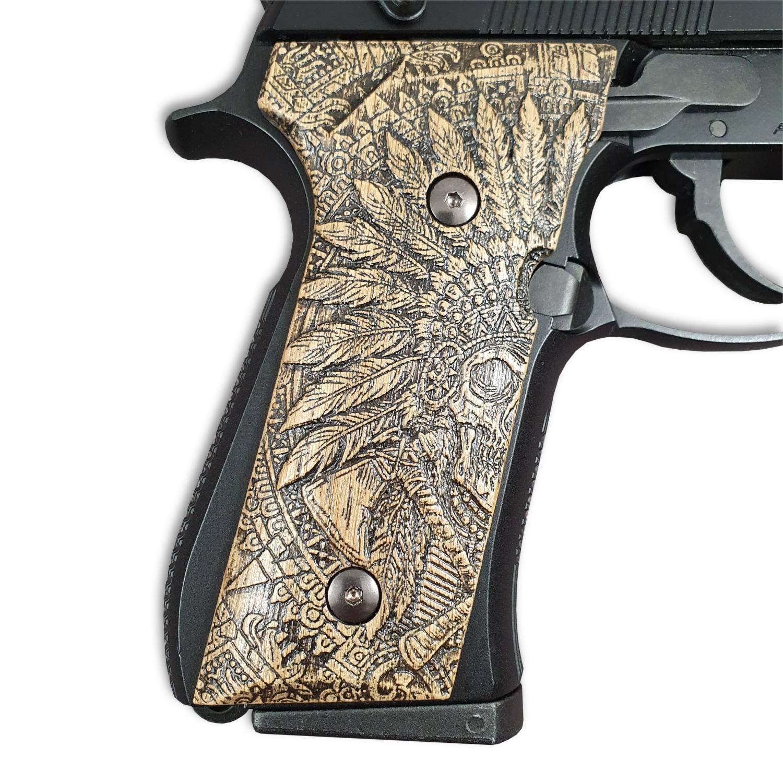 Beretta M9A3 Wood Grips Dead Reds