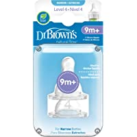 Dr Brown's Level 4 Silicone Narrow-Options Nipple, (Pack of 2)