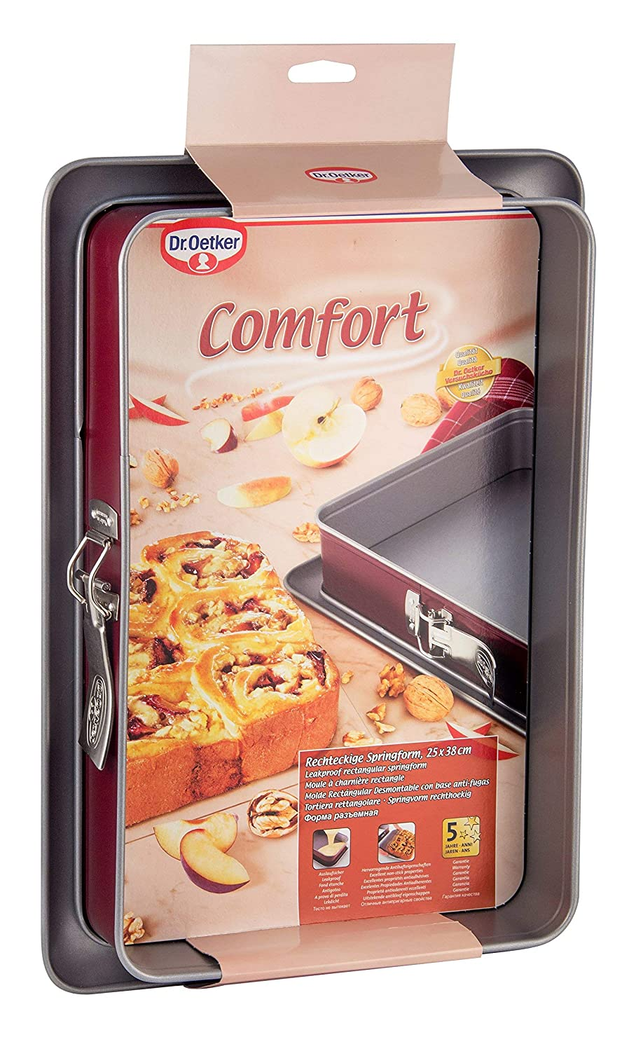 Dr. Oetker 1698-MOLDE Desmontable Rectangular 23X23CM. Comfort, Centimeters: Amazon.es: Hogar