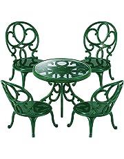 Sylvanian Families-4507 Animales Mesa y sillas de jardín Color Verde Epoch para Imaginar 4507