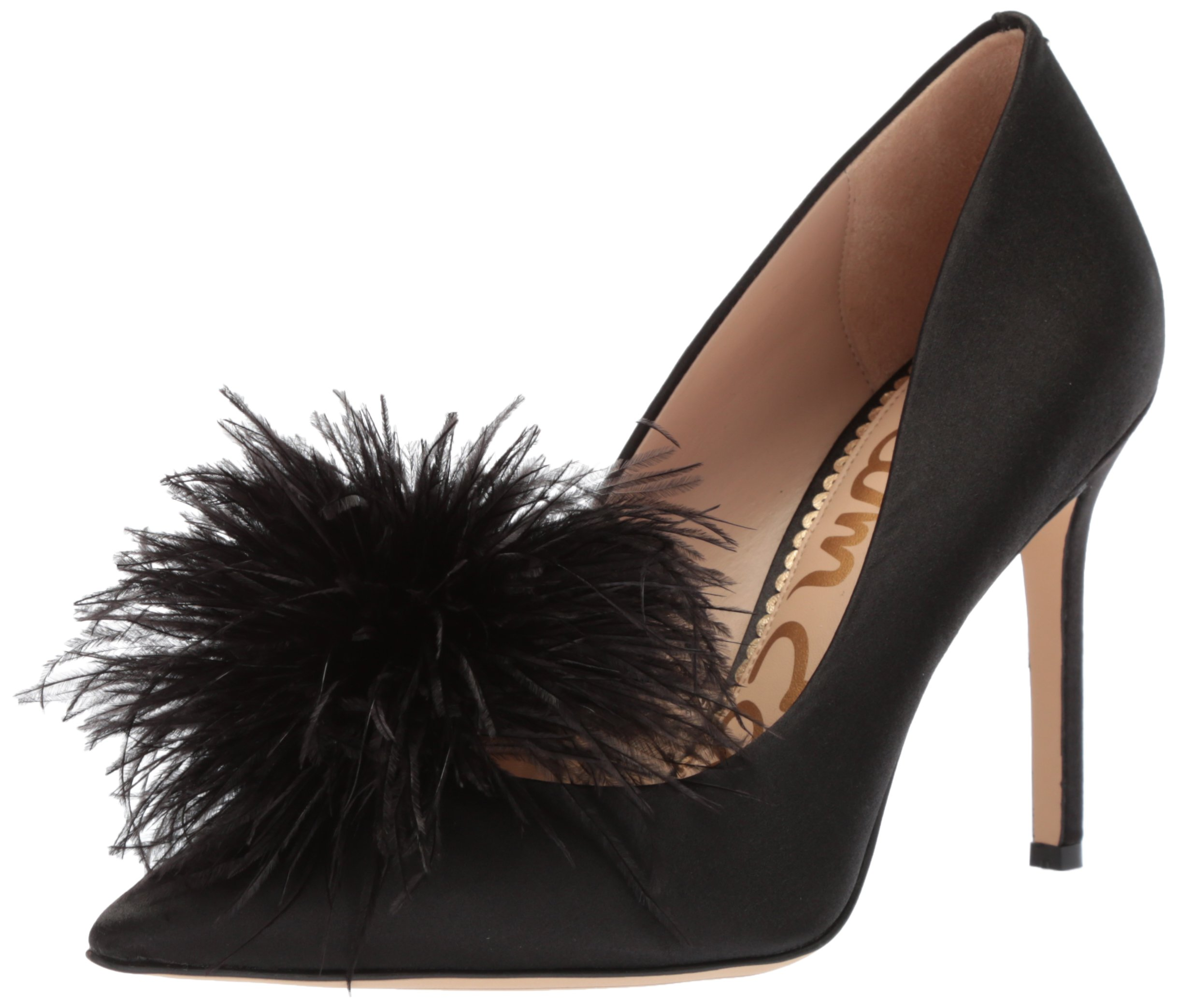 Sam Edelman Women's Haide Pump, Black Satin, 6.5 Medium US