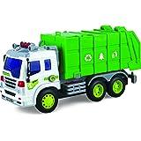 Fricción Camión de juguete con Luces y Sonidos - Camión de juguete por ThinkGizmos (Marca protegida) (Camión de Basura)