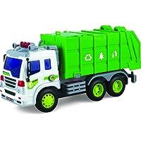 ThinkGizmos Camion Jouet à Friction avec Lumières & Son – Voiture Push Et Go (Marque déposée) (Camion Benne à ordures)