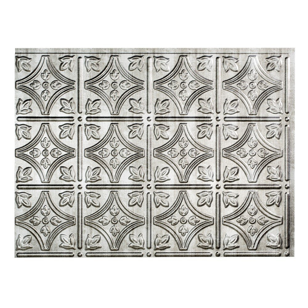 Fasade Easy Installation Traditional 1 Crosshatch Silver Backsplash Panel for Kitchen and Bathrooms (18'' x 24'' Panel) by Fasade (Image #3)