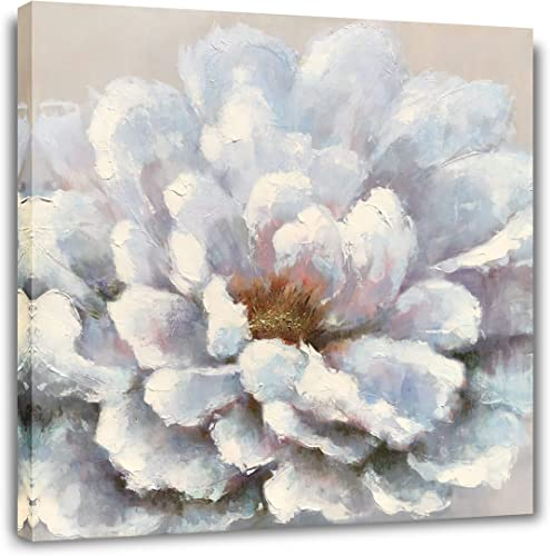 Yihui Arts Floral Canvas Prints Wall Art Paintings Abstract Light Blue Picture