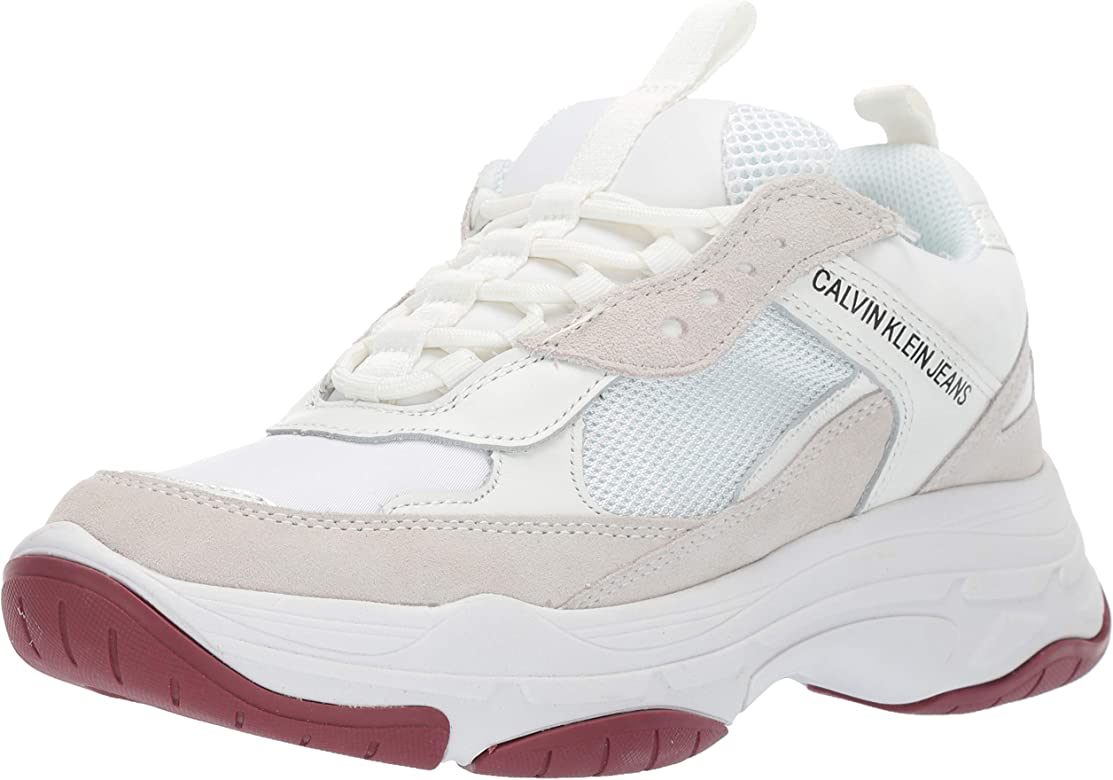 Calvin Klein Jeans Mujer Blanco Maya Chunky Zapatillas UK 5