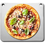 Fire & Slice Large Pizza Stone for Oven and Grill   High Performance, Double Pre-Seasoned Carbon Steel Pizza Pan, Pizza Steel