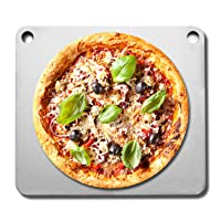 Fire & Slice Pizza Stone for Oven and Grill –Double Pre-Seasoned Conductive Steel Baking Stone and Pizza Pan (1/2
