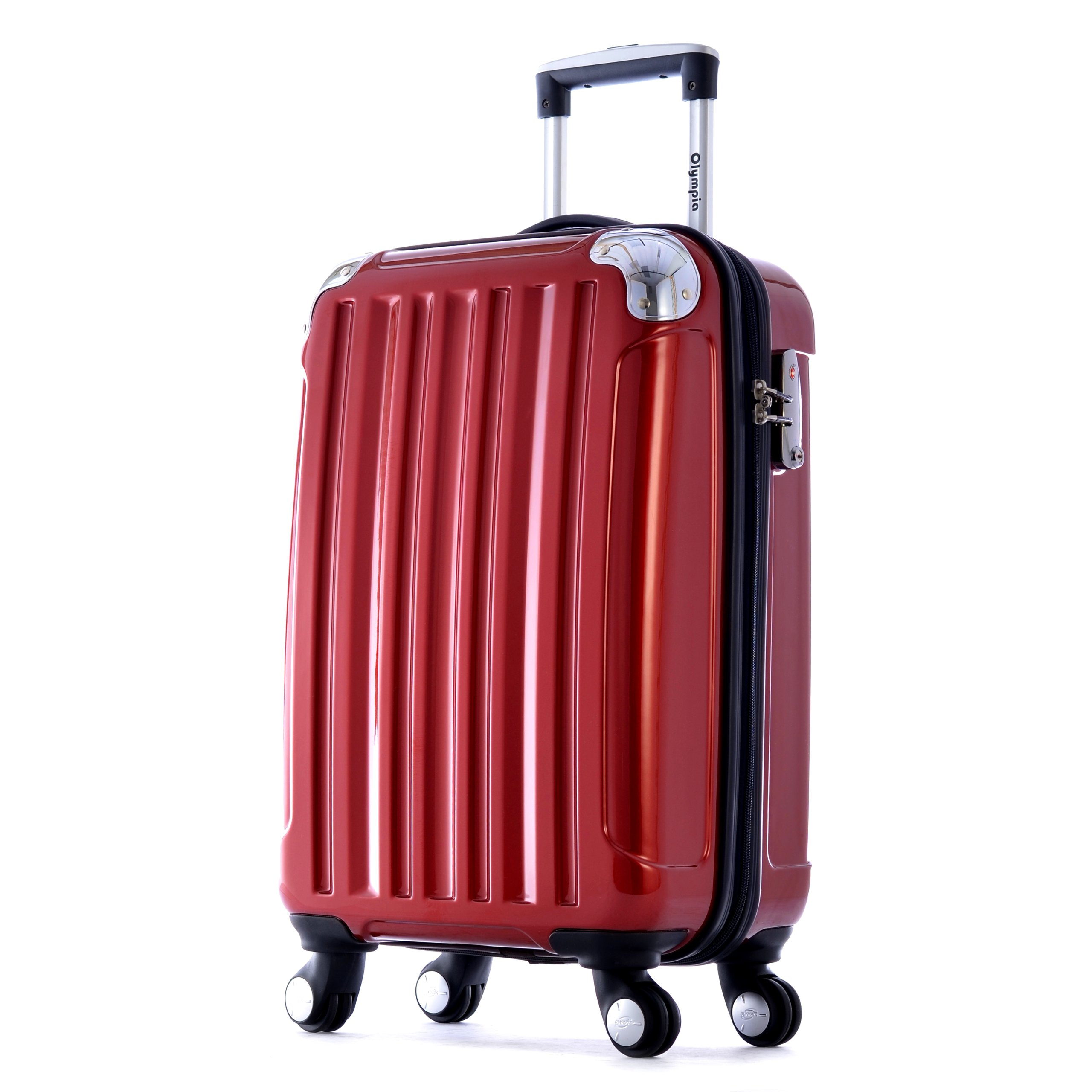 Olympia Whistler Hard Case Carry-On, Burgundy, One Size by Olympia