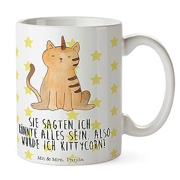 Mr. & señora Panda taza Unicorn gato – 100% hecha a mano en Alemania