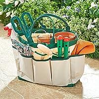 Spetebo Tuintas met 8 vakken, ca. 33 x 16 x 25 cm - Tuingereedschapstas voor tuinieren tas tuin tuin