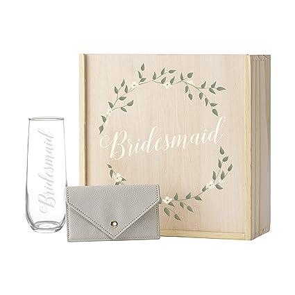 Amazon Com Cathy S Concepts Floral Bridesmaid Gift Box Set Home