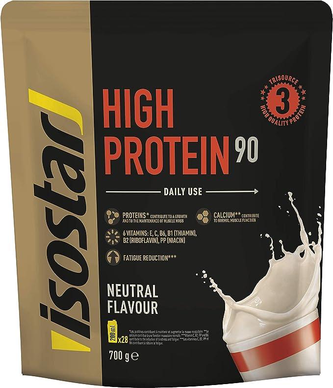 Isostar High Protein 90 - proteína en polvo de alta calidad - proteína en polvo con aminoácidos y calcio para una construcción muscular efectiva - ...