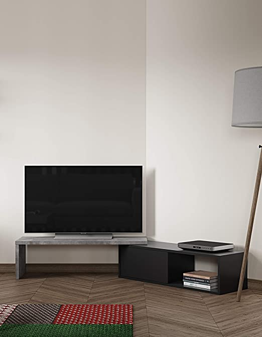 TemaHome Dixie - Mesa para televisor (110/203 x 35,4 x 32 cm ...