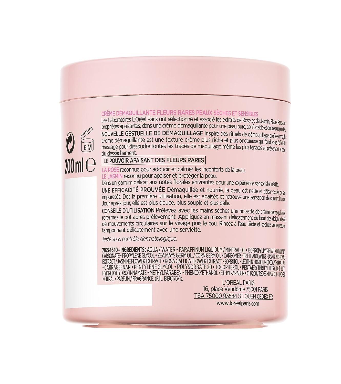 L Oréal Paris, Crema Démaquillante para pieles secas y sensibles, 200 ml: Amazon.es: Belleza