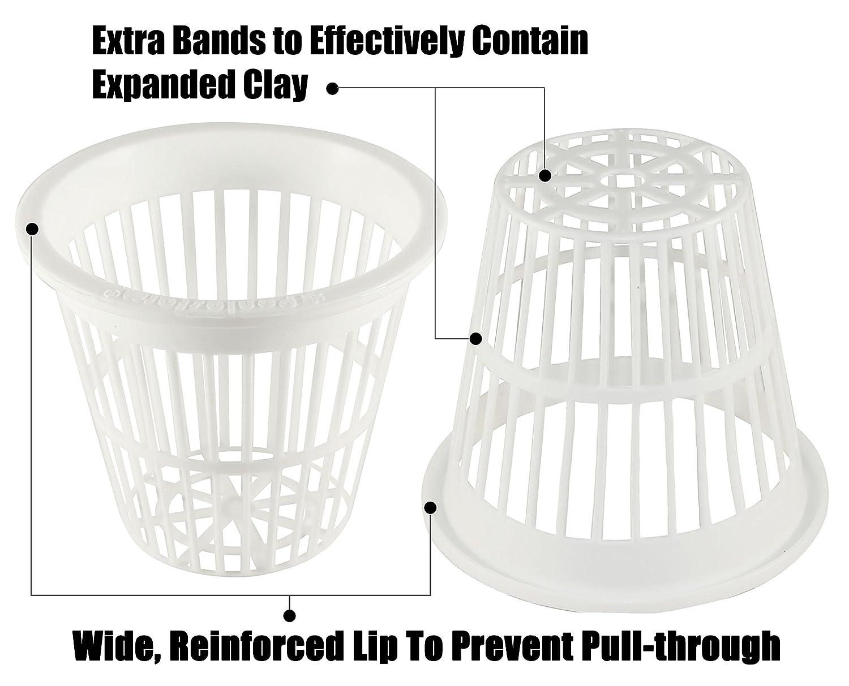 2 Inch Black Slotted Mesh Net Pot for Hydroponics//Aquaponics//Orchids NP2BB 100 Pack