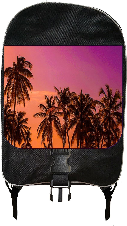 Palm Tree Sky Black School Backpack /& Pencil Bag Set