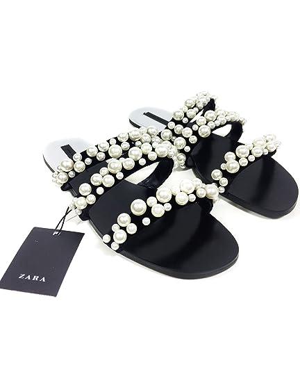 5c6ff15e0dc Zara Women s Pearly strappy sandals 2600 201 (35 EU