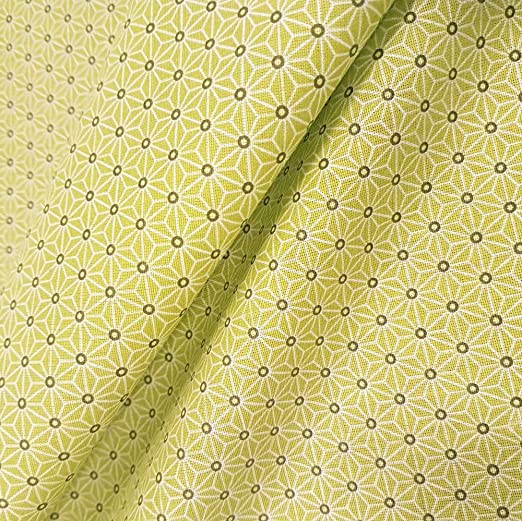 Werthers Stoffe Tela Tela de algodón Metro Color Verde Lime Blanco ...