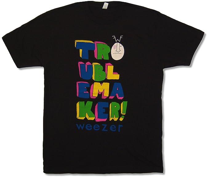 14a9241eb Adult Weezer Troublemaker Tour 2009 Black T-Shirt (Large) | Amazon.com