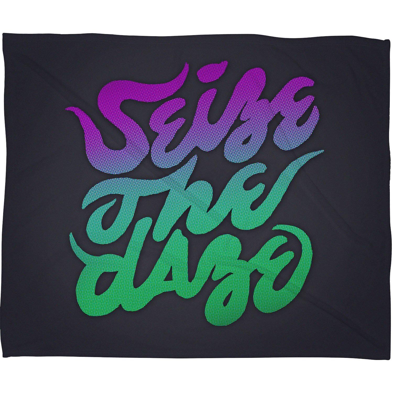 30 x 40 14063-flesma Deny Designs Wesley Bird Seize The Daze Fleece Throw Blanket