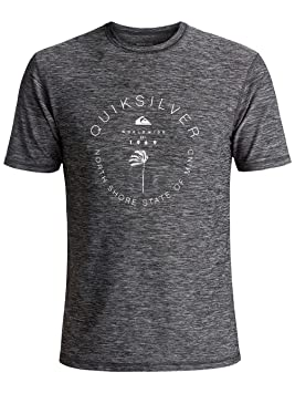 2018 Quicksilver Scrypto Short Sleeve Surf Tee UV50 BLACK EQYWR03086 Sizes- - Small