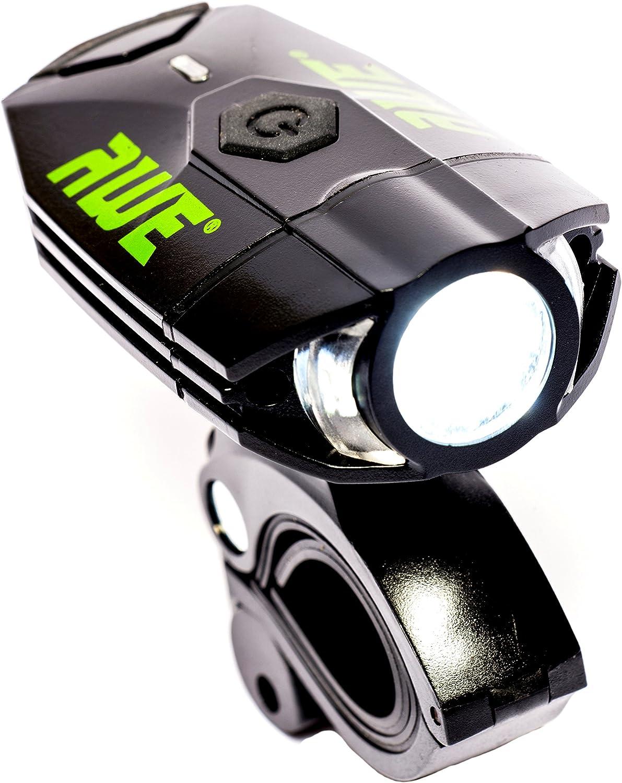 AWE® awe500tm 1 x Awe frontal LED recargable por USB luz delantera ...