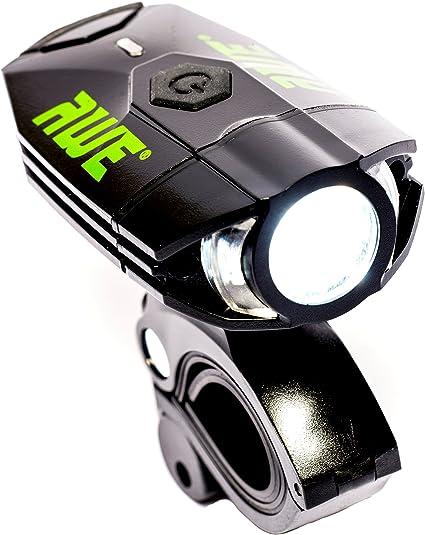 AWE® awe500tm 1 x Awe frontal LED recargable por USB luz delantera – Foco frontal para Bici 500 lumens muy brillante: Amazon.es: Deportes y aire libre