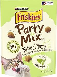 Purina Friskies Party Mix Naturals Adult Cat Treats - (6) 6 oz. Pouches