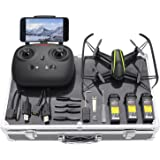 Potensic Drone with Carrying Case, U36W Wireless RC Quadcopter Drone with 120 Degree Wide-Angle 720P HD Camera Altitude Hold One Button Take off Function