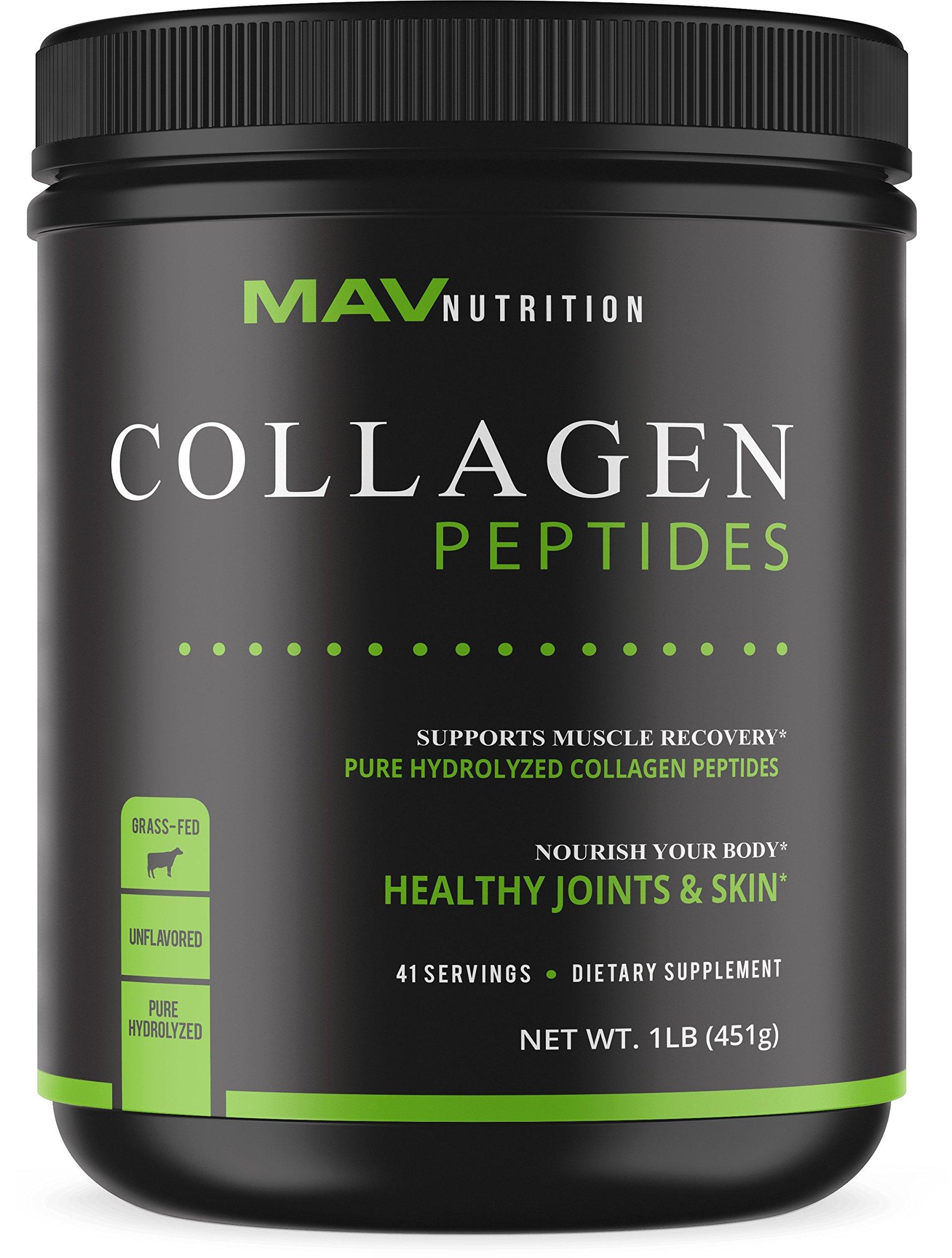 Premium Collagen Peptides (16oz)   Pasture - Raised, Grass - Fed, Paleo Friendly + 100% All Natural + Non - GMO & Gluten Free + Pure Hydrolyzed + Unflavored Collagen Powder
