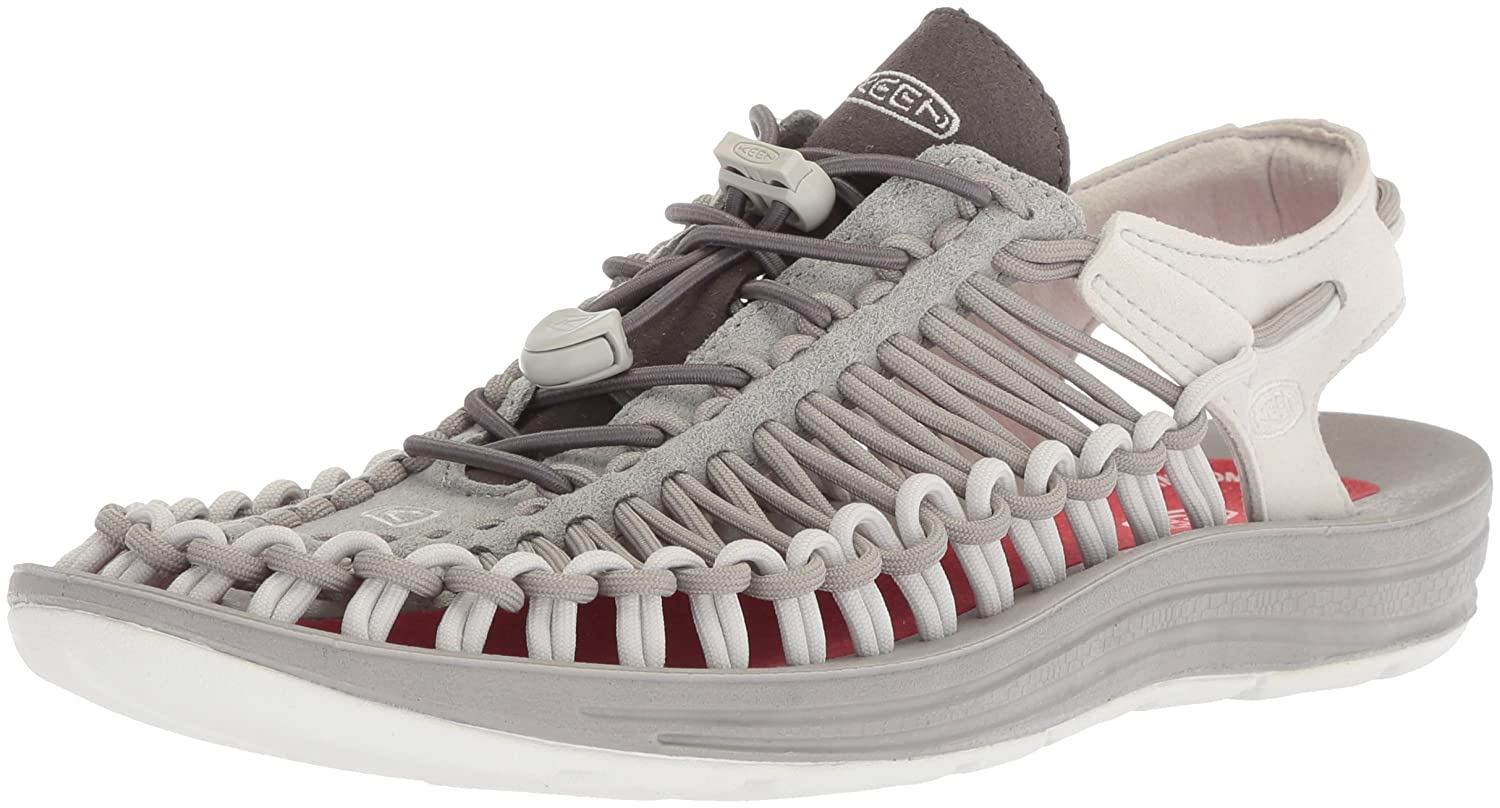 KEEN Women's Uneek-W Sandal B071K5T5PF 7.5 B(M) US|Neutral Gray/Eiffel Tower
