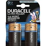Duracell Ultra Power Batterie Alcaline, Stilo D, Confezione da 2