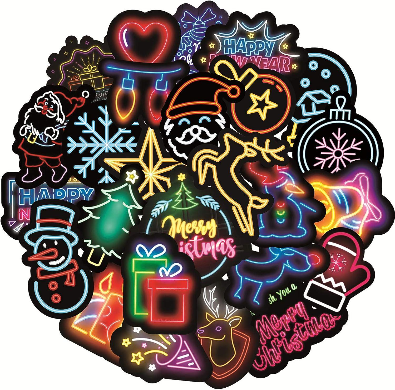50Pcs Merry Christmas Stickers Graffiti Laptop VSCO Sticker Luggage Car Decal US
