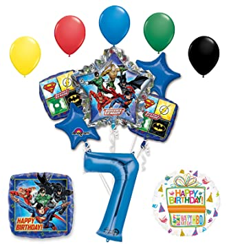 Amazon Com The Ultimate Justice League Superhero 7th Birthday Party