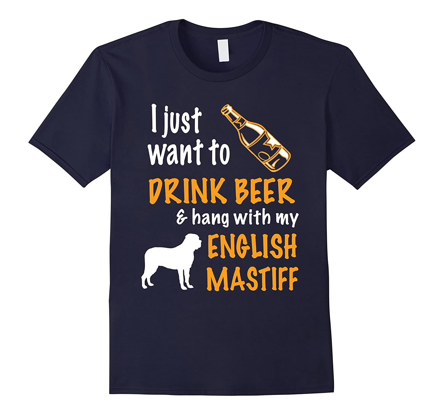 Beer  Hang With English mastiff T-Shirt-TH