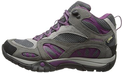 Merrell Azura Mid Gtx, Damen Trekking- & Wanderstiefel, Grau (castle Rock/purple), 37 Eu