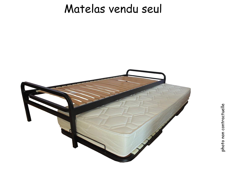 Matelas pour lit gigogne NACRE 90 x 190: Amazon.fr: Cuisine & Maison