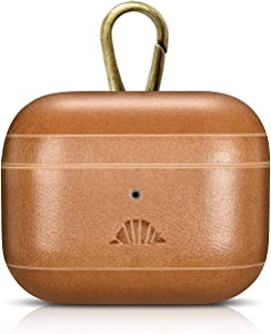 intelliARMOR - CarryOn Genuine Leather Case for Apple Airpods Pro (Camel)
