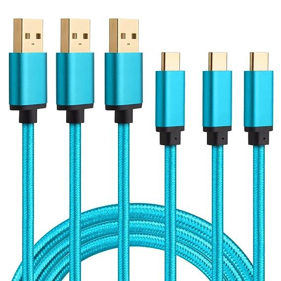Amazon.com: USB Type C Cable (USB-C Port), HI-CABLE 3-Pack 6Ft Nylon ...