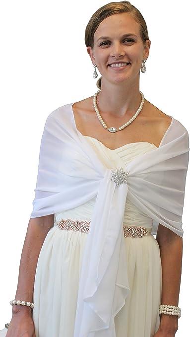 Chiffon shawl taupe wedding bridal evening baptism ceremony 50200 cm Christmas holiday shawl stole.